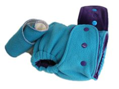 Peacock Good.Night One-Size Fitted Diaper (fleece) - Majestic Cotton Velour  by Goodmama
