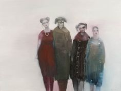 Participants (2010) by Kristin Vestgard (b. 1976), Norwegian - her paintings whisper to us of magic and dreams and times spent in playful contemplation. Her figures, for she is essentially a figurative painter, seem somehow to be part of a narrative that is never explained  (kristinvestgard)