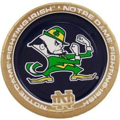 "Notre Dame Fighting Irish 8 Pack Paper Plates by Football Fanatics. $3.95. Officially licensed NCAA product. Team logo and colors. Standard 7"" paper plate. Get your tailgate party started off with Fighting Irish pride when you serve up your food on these paper plates featuring team colors and logos!Team logo and colorsStandard 7"" paper plateOfficially licensed NCAA product"