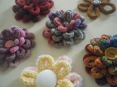 fiori tricotin colorati