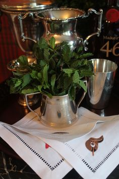 Mint julep station at the Kentucky Derby Party