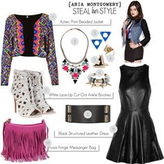 Steal Her Style: Aria Montgomery & Pretty Little Liars Fashion by a-mister-and-his-sister, via Polyvore