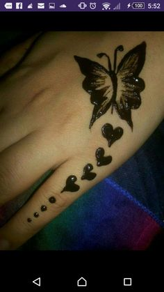 Love the hearts - Henna Tattoo Designs Simple, Mehndi Designs Book, Finger Henna Designs, Henna Flower Designs, Mehndi Designs For Girls, Mehndi Designs For Beginners, Modern Mehndi Designs, Mehndi Design Pictures, Mehndi Designs For Fingers