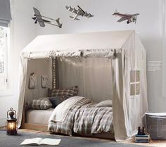 38 Cute Boys Bedroom Design For Cozy Bedroom Ideas & bed canopies for boys | Boys Bed Canopy i Like This Canopy Over Bed ...