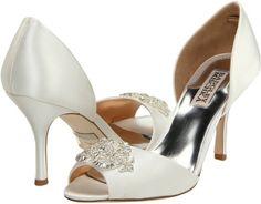 Badgley Mischka Salsa (White Satin) - Footwear on shopstyle.com
