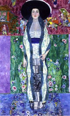 Portrait of Adele Bloch-Bauer Gustav Klimt 1912 Private collection Painting - oil on canvas Height: 190 cm (74.8 in.), Width: 120 cm (47.24 in.)