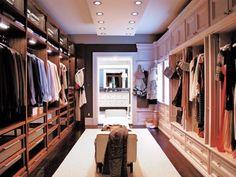 A closet designed for a couple.