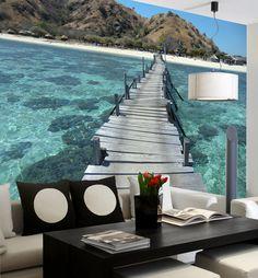 Puente en el mar - FOTOMURALES