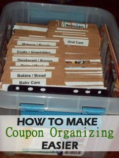 5 Ways to Make Coupon Organizing Easier via MrsJanuary.com #extremecouponing #savemoney