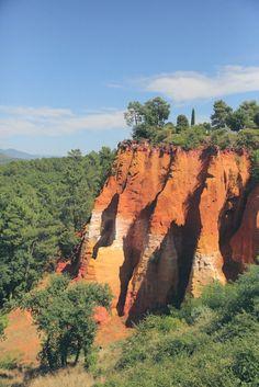 Le Massif d'ocres, provence