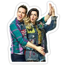 """""""Janis and Damian Mean Girls the Musical"""" Stickers by LovegoodCosplay Janice Mean Girls, Mean Girls Janis, Broadway News, Broadway Theatre, Musical Theatre, Theatre Nerds, Theater, We Wear, Musicals"""
