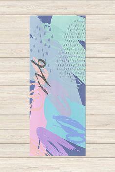 Printed Yoga Mat - Crayon Doodle, Yoga Mat with Design, Exercise Mat, Bright Yoga Mat, Unique Yoga Gifts, Yoga Mat Print, Custom Yoga Mat