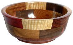 Multicolor Wood Bowl