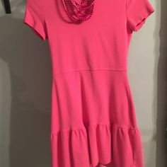 Juicy could tour short sleeve dress Hot pink juicy cotiure Shortsleeve knitted mini dress necklace not included Juicy Couture Dresses Mini