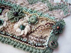 Häkeln Sie Manschette häkeln Armband grün Armband