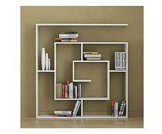 LABIRINTO A PARETE: Libreria da parete LABIRENT color bianco - 125x125x22 cm