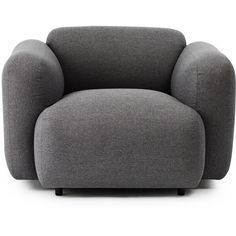 Normann Copenhagen Swell Armchair ($2,130) ❤ liked on Polyvore featuring home, furniture, chairs, accent chairs, grey, gray armchair, grey armchair, padded chairs, grey accent chair and gray accent chair