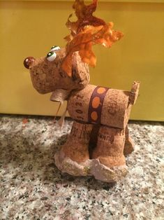 I used champagne corks in my usual style of wine cork reindeer! Country Christmas Crafts, Christmas Time, Christmas Ideas, Craft Bags, Craft Gifts, Cork Crafts, Diy Crafts, Wine Cork Ornaments, Wine Cork Projects