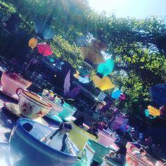 #spinningteacups #aliceinwonderland #disneyland #vacation #fantasyland #cali by heymorganadams
