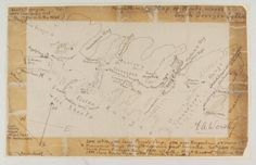 A map of the route across South Georgia, drawn by Frank Worsley, 1916. Found on SPRI