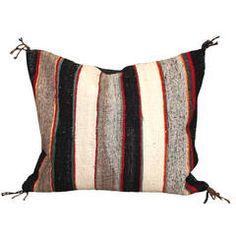 Striped Navajo Saddle Blanket Pillow