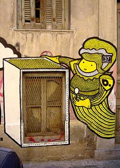 Street Artist b. - Athens, Greece