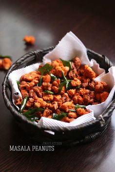 Masala peanuts recipe | Spicy peanuts snacks recipe - simple, easy to make and delicious snacks recipe that can be prepared within minutes. Peanut Recipes, Spicy Recipes, Chaat Masala, Garam Masala, Peanut Masala, Delicious Snacks, Tea Time Snacks, Snacks Ideas, Peanuts