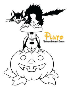 42 Free Printable Disney Halloween Coloring Page for Kids / Free Printable Coloring Pages for Kids - Coloring Books Halloween Coloring Pictures, Halloween Coloring Pages Printable, Free Halloween Coloring Pages, Pumpkin Coloring Pages, Cat Coloring Page, Cool Coloring Pages, Disney Coloring Pages, Halloween Pictures, Free Printable Coloring Pages
