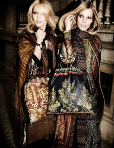 etro fall winter 2014 campaign6 Karmen Pedaru, Suvi Koponen Have a Night Out for Etros Fall 2014 Campaign