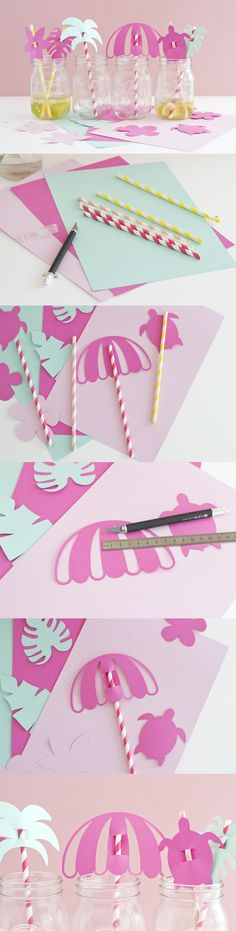 DIY Pailles tropicales - www.paperboat.fr