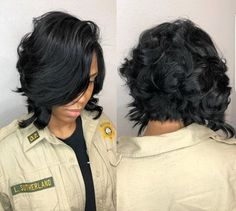 Smooth Subtle Fade - 30 Short Ombre Hair Options for Your Cropped Locks in 2019 - The Trending Hairstyle Messy Bob Hairstyles, African Hairstyles, Weave Hairstyles, Girl Hairstyles, Black Hairstyles, Hairstyles Pictures, Layered Bob Hairstyles For Black Women, Hairstyles 2018, Layered Hair