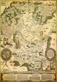 Map of the Kingdom of Hungary, circa 1527.