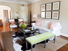 Transitional Living-rooms from Emily Johnston Larkin on HGTV