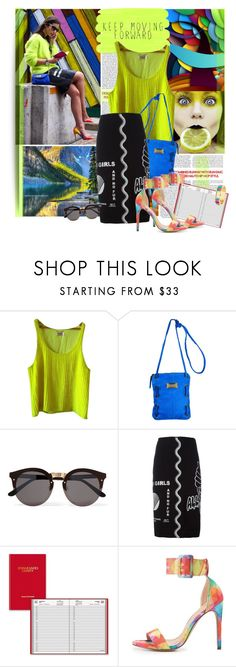 """""""Speaking with Colors"""" by lavendergal ❤ liked on Polyvore featuring Yves Saint Laurent, Latico, Illesteva, STELLA McCARTNEY, AT-A-GLANCE, Liliana and Kate Spade"""