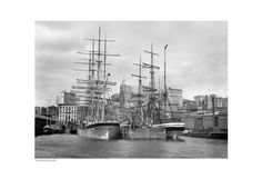 East River Docks, 1900 Unknown Fine Art Print Poster