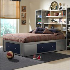 love the bed with storage around it -- use with bookshelves?