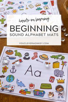 Kids Learning Activities, Learning Letters, Alphabet Activities, Preschool Activities, Initial Sounds, Letter Sounds, Kindergarten Readiness, Kindergarten Literacy, Alphabet Sounds