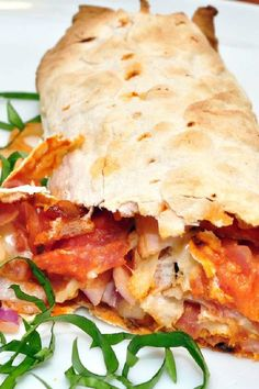 Stromboli Recipe with Pepperoni, Ham, and Ground Beef