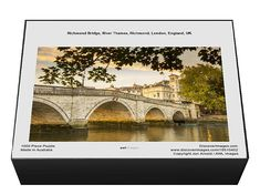 1000 Piece Jigsaw Puzzle (other products available) - Richmond Bridge, River Thames, Richmond, London, England, UK - Image supplied by AWL Images - #MediaStorehouse - 1000 Piece Jigsaw Puzzle made in Australia Richmond Bridge, Richmond London, England Uk, London England, Uk Images, River Thames, Puzzle, Australia, London
