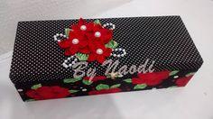 Caixa multi uso - revestida de tecido