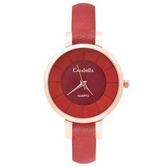 Rose gold and red watch with leatherette straps Gold Watch, Fashion Accessories, Rose Gold, Watches, Red, Shopping, Wristwatches, Clocks