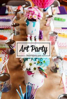 The perfect art party - birthday party decor and food ideas.