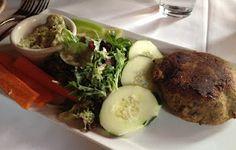 tavern on rush : naked veggie burger.