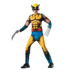 Deluxe Muscle Chest Wolverine Boy's Halloween Costume - Medium