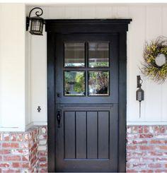 Double Dutch Door Doors French Playhouse Aaroncarver Dutch Door For Sale Colonial Front Door, Exterior Front Doors, Dutch Colonial, Porch Doors, Entry Doors, Entrance, Swinging Doors Kitchen, Front Door Canopy, Interior Doors For Sale