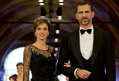 The glamour queen: The 42 year old Princess Letizia will now become Queen of Spain as her husband the Crown Prince will ascend the throne fo...