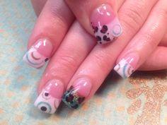 Leopard acrylic nails