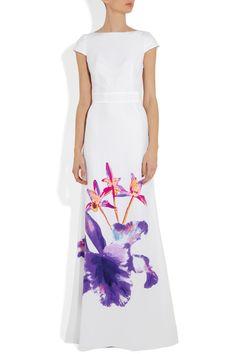 Issa Printed silk-satin gown NET-A-PORTER.COM £795