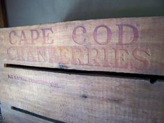 1920s Cape Cod Cranberry Crate