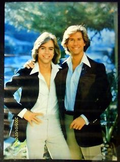 """The Hardy Boys, Shawn Cassidy and Parker Stevenson....JC & DS solving world problems as the """"Hardy Boys."""" Good times! Lol"""